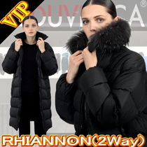 DUVETICA Fur Plain Long Down Jackets