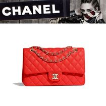 CHANEL 2WAY Plain Handbags