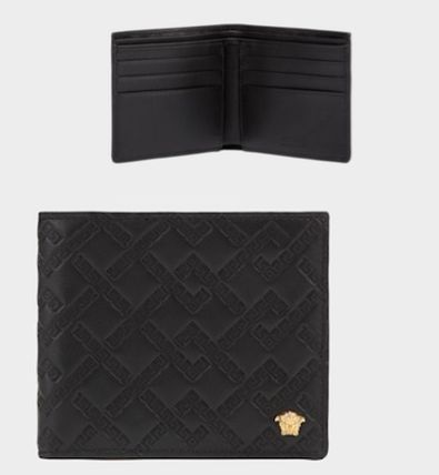 5dc48b0627 VERSACE Leather Folding Wallets (DPU2463DGOVV D41OH)