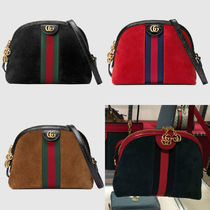 GUCCI Ophidia Casual Style Suede Plain Shoulder Bags