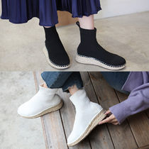 Platform Round Toe Casual Style Plain Ankle & Booties Boots