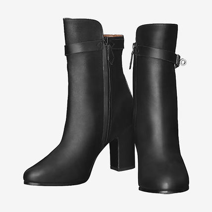 HERMES Leather Elegant Style Ankle & Booties Boots