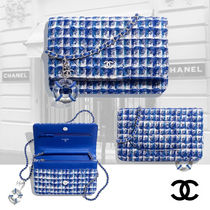 CHANEL Other Check Patterns Casual Style Blended Fabrics Chain