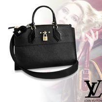 Louis Vuitton Plain Leather Elegant Style Handbags