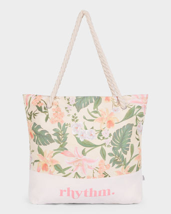 Flower Patterns Casual Style A4 Oversized Totes