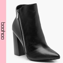 boohoo Casual Style Faux Fur Ankle & Booties Boots