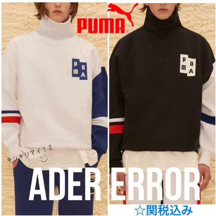 Unisex Street Style Collaboration Bi-color Long Sleeves