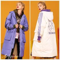 ELF SACK Street Style Plain Other Animal Patterns Long Down Jackets