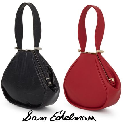 Faux Fur Plain Elegant Style Handbags