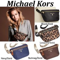 Michael Kors Leopard Patterns Casual Style Plain Shoulder Bags