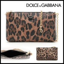 Dolce & Gabbana Leopard Patterns Casual Style 2WAY Handbags