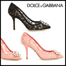 Dolce & Gabbana Pin Heels Elegant Style Pointed Toe Pumps & Mules