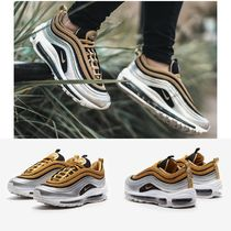 Nike AIR MAX 97 Round Toe Casual Style Unisex Street Style Low-Top Sneakers