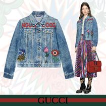 GUCCI Short Casual Style Denim Jackets