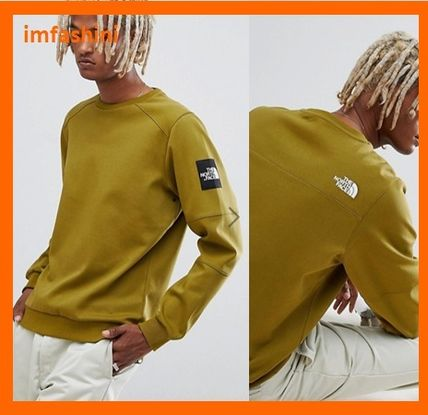 THE NORTH FACE Sweatshirts Crew Neck Pullovers Street Style Long Sleeves Plain Cotton