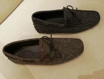 TOD'S Driving Shoes Unisex Plain U Tips Loafers & Slip-ons