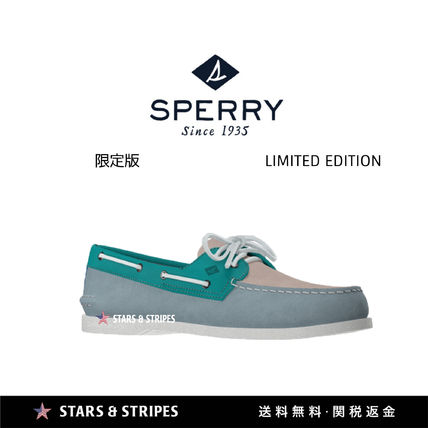 Suede Street Style Deck Shoes Handmade Logo