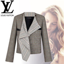 Louis Vuitton Other Check Patterns Wool Plain Medium Elegant Style Jackets