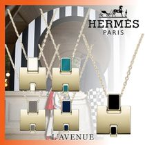 HERMES Costume Jewelry Unisex Chain Necklaces & Pendants