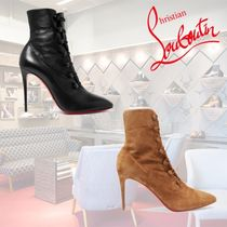 Christian Louboutin Casual Style Plain Leather Ankle & Booties Boots