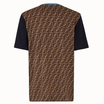 FENDI Crew Neck Crew Neck Cotton Short Sleeves Crew Neck T-Shirts 3