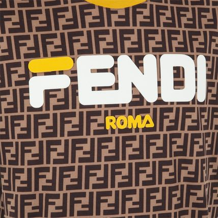 FENDI Crew Neck Crew Neck Cotton Short Sleeves Crew Neck T-Shirts 7
