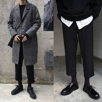 Slax Pants Street Style Plain Oversized Slacks Pants