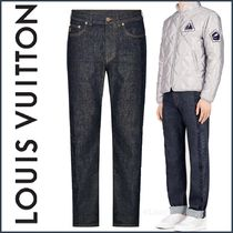 Louis Vuitton Denim Blended Fabrics Street Style Plain Jeans & Denim