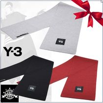 Y-3 Unisex Wool Plain Scarves