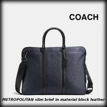 Coach A4 3WAY Plain Leather Business & Briefcases