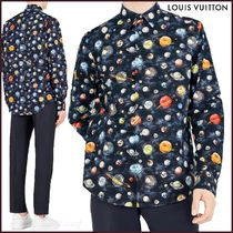 Louis Vuitton Button-down Star Street Style Long Sleeves Cotton Shirts