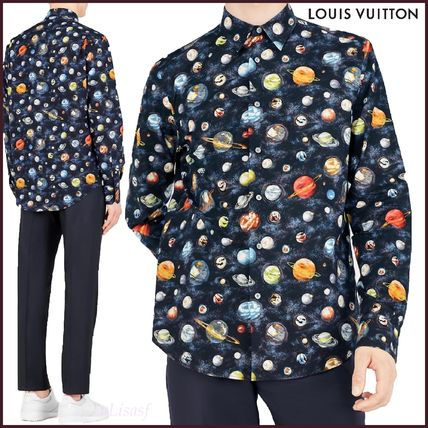 Louis Vuitton Shirts Button-down Star Street Style Long Sleeves Cotton Shirts
