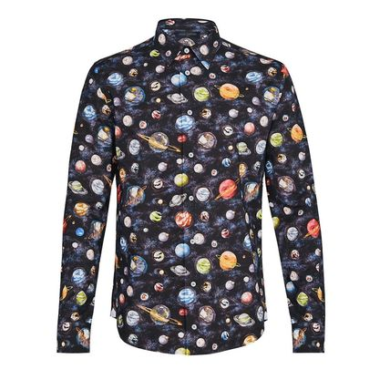 Louis Vuitton Shirts Button-down Star Street Style Long Sleeves Cotton Shirts 2