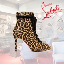 Christian Louboutin Leopard Patterns Casual Style Ankle & Booties Boots