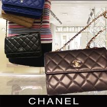 CHANEL MATELASSE Chain Plain Elegant Style Shoulder Bags
