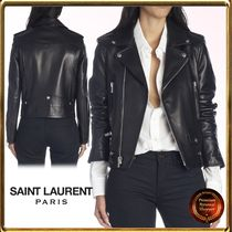 Saint Laurent Short Leather Biker Jackets