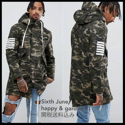 Camouflage Street Style Parkas