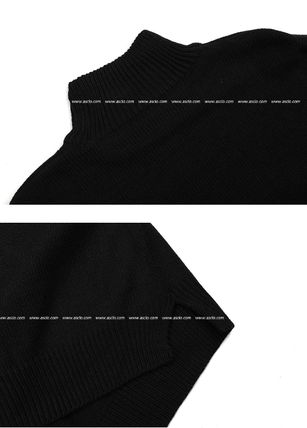 ASCLO Knits & Sweaters Street Style Collaboration Long Sleeves Plain 10