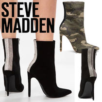 Steve Madden Camouflage Suede Studded Plain Pin Heels Elegant Style