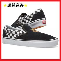 VANS SLIP ON Other Check Patterns Suede Street Style Loafers & Slip-ons