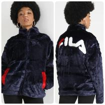 FILA Unisex Faux Fur Street Style Plain Medium