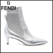 FENDI Plain Pin Heels Ankle & Booties Boots