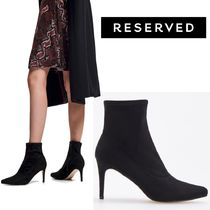 RESERVED Plain Leather Pin Heels Elegant Style Ankle & Booties Boots