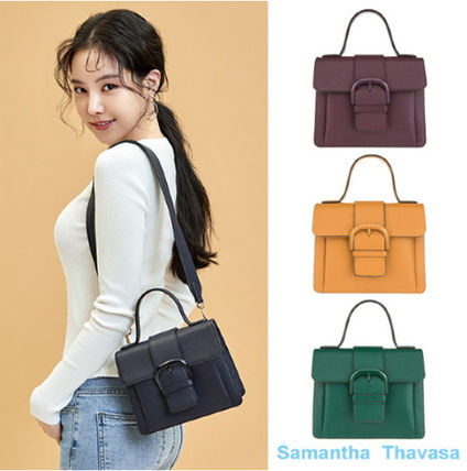 Casual Style 3WAY Chain Leather Totes