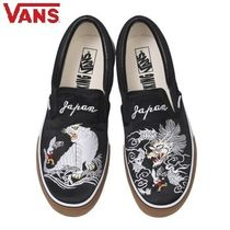 VANS SLIP ON Street Style Collaboration Other Animal Patterns Sneakers