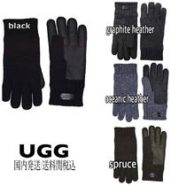 UGG Australia Wool Blended Fabrics Plain Smartphone Use Gloves