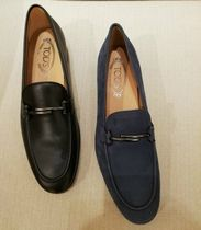 TOD'S Moccasin Plain Leather U Tips Loafers & Slip-ons