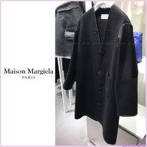 Maison Martin Margiela Casual Style Wool Blended Fabrics Plain Long Oversized