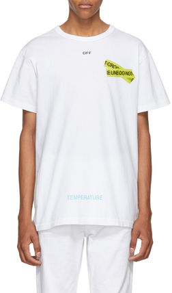 Off-White More T-Shirts Unisex Street Style Cotton T-Shirts 2