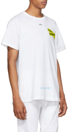 Off-White More T-Shirts Unisex Street Style Cotton T-Shirts 3